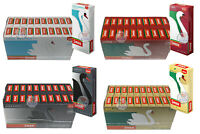SWAN LONG, ECO, GRAPHITE, COOL MENTHOL EXTRA SLIM PRE CUT FILTER TIPS BOX/ PACKS