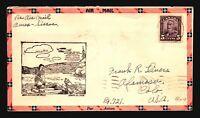 Canada 1928 FFC Amos to Siscoe - Z17381