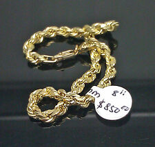 "Real 10K Yellow Gold Men's Thick Rope Bracelet 8"" Inches Mens/Ladies Brand New N"