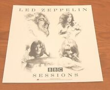 Led Zeppelin Bbc Sessions Poster 2-Sided Flat Square 1997 Promo 12x12
