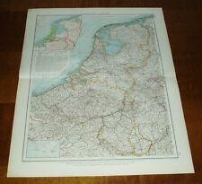 Niederlande und Belgien - Frankreich: 2 alte Landkarten (1900)