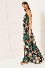 LIPSY Tropical Belted Maxi Dress 10 Reg