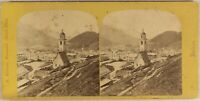 Suisse st. Moritz c1865 Foto Adolphe Braun Stereo Vintage Albumina