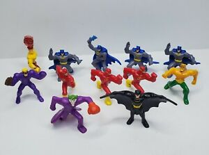 Lot Of 12 McDonalds DC Comics Figures 2011 Happy Meal 2in Batman Joker Flash