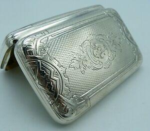 Solid Silver Russian Cigar / Antique 19th Century Imperial Cigarette Case - 84