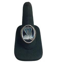 vintage BIKERS RING mustang cobra snake HEAVY DUTY Men's Ring Size 10