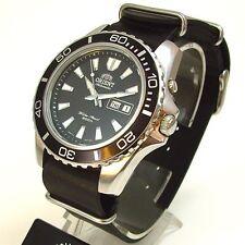 Orient Deep nuovi Mako Diver nato Pelle Giorno Data orologio subacqueo orologio uomo cem75001b