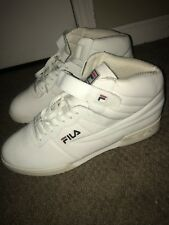 Fila F-13 V Smooth Mens White Leather & Synthetic High Top Sneakers Shoes