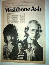 "WISHBONE ASH October Tour 1977 UK Poster size Press ADVERT 16x12"""