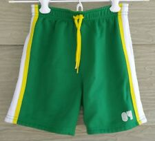 Gymboree Summer Sports Boys 12 18 Green Yellow Reversible Gym ATHLETIC SHORTS