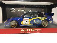 Subaru Impreza WRC 2003 Monte Carlo #7 Mills/Solberg AUTOart Racing 1:18 80391