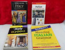 Italian 4 Book Lot - Mastering It Grammar, Italy For Dummies, Language Guide etc