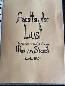 Max von Strauch Erotika Zeichnungen 1924 Erotik Bildband Facetten der Lust