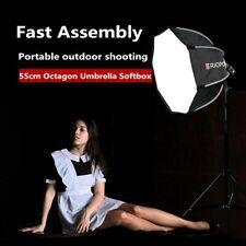 Portable Octagon SoftBox for Speedlight Flash Bracket with Handgrip