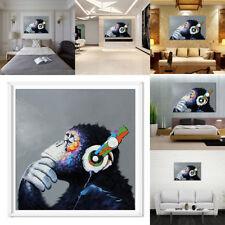 Peinture Huile Gorille Tableau Toile Art Abstraite Moderne Décor Maison Mural NF