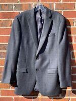Lauren Ralph Lauren Blazer Blue Elbow Patch Check Men Sport Coat Jacket Size 40L