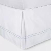 """Fieldcrest King Size White Hotel Sateen Bed Skirt 15"""" Drop - New"""