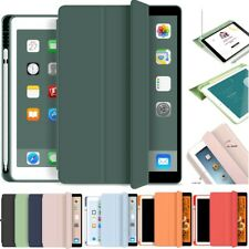 For iPad 7th 10.2 Air 3 Pro 10.5 9.7 Case 2020 with Pencil Holder Leather Cover