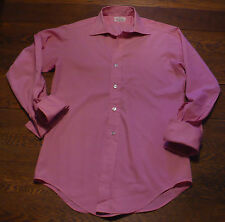 True Vtg Men's Store Stock Button Down Mod Taper Body Shirt Sz S Bright Pink