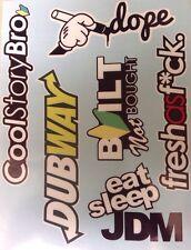 JDM Pack Lot Of 6 Vinyl Decal Sticker Bombing Low Stance Drift (Type2Dubway)