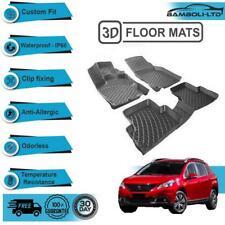 3D Molded Interior Car Floor Mat for Peugeot 2008 (Black)