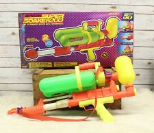 Vintage 1990 Larami Super Soaker 200 Water Gun With Original Box & Instructions