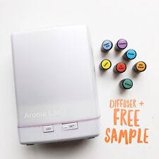 New Aroma Lite Ultrasonic Essential Oil Aromatherapy Diffuser + 1 DoTerra Sample