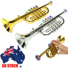 Toy trumpet music ebay au mini goldensilver horn trumpet musical instrument toy educational kids gift sciox Choice Image