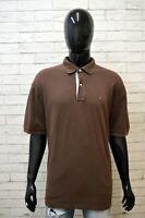 Polo Maglia Uomo TOMMY HILFIGER Taglia Forte Manica Corta Shirt Big Size Marrone