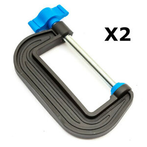 2x Mini G Clamp 3 Inch / 76mm Opening Strong Vice Grip Holder DIY Hobby Project