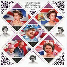 More details for guinea-bissau royalty stamps 2018 mnh queen elizabeth ii coronation 5v foil m/s
