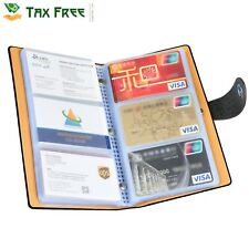 Business Card Organizer Book Binder Credit Cards ID Holder Waterproof Keeper Kit