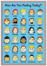 A4 Poster Sign Educational Nursery SEN Children Kids Childminders Feelings (2)