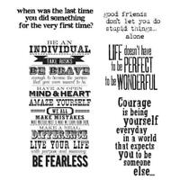 Tim Holtz Cling Stamps - Way With Words CMS 165
