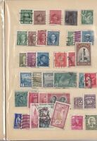 PAGE OF CANADA   AND A FEW  FRENCH STAMPS