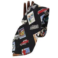 Nicole Miller Mercedes Benz Men's Tie Silk Vintage Car Design