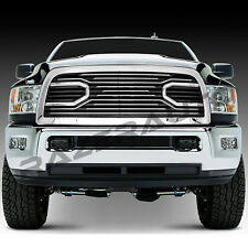 Big Horn Chrome Front Grille+Replacement Shell for 10-17 Dodge RAM 2500+3500