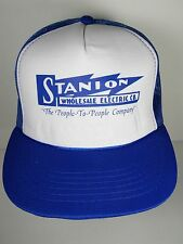 OLD VINTAGE 1980s STANION WHOLESALE ELECTRIC CO KANSAS Advertising SNAPBACK HAT