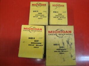 Missing 1 pair New other Michigan main bearing set Case L4 188D G188D 207 207D