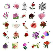 """30 Personalized Roses address labels Buy 3 get 1 free1"""" x 2 5/8"""" (ro1)"""