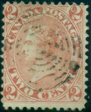 CANADA #20 2¢ rose, used w/light wedge/ring cancel