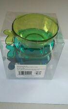Fish shape plastic snack bowl 3pc set
