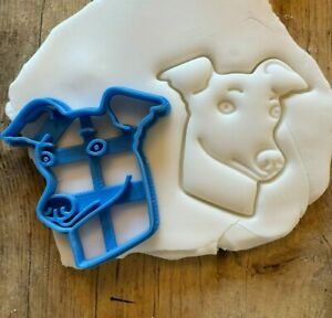 Whippet Dog Cookie/  biscuit cutter, cute animal, pets, snap dog, english