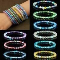 Natural Moonstone Stretchy Quartz Healing Beaded Bracelet Stone Bangle Gifts