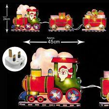 Iluminación Interior Ventana Navidad Silueta - Santa en Tren