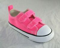 TODDLER CONVERSE 2 STRAP 758193F PINK POW/NATURA CANVAS CASUAL SHOE