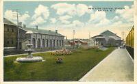New York Central Station 1920s Railroad Depot Mac Greevey postcard 9511