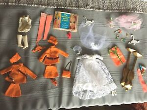 Vintage 1970s Topper Dawn doll Clothes And Accessories Lot