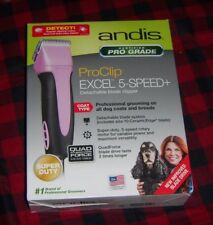 Andis professional PINK Dog Clipper ProClip Excel 5-Speed * NEW SMC 65410