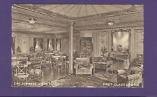 CPS Empress of Scotland Postcard - First Class Lounge - Canadian Pacific Line
